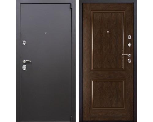 Входная металлическая дверь Квадро 72 (Искра коричневая / Каштан)