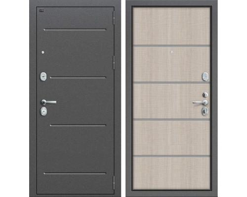 Дверь входная металлическая Groff T2-204 (Cappuccino Crosscut)