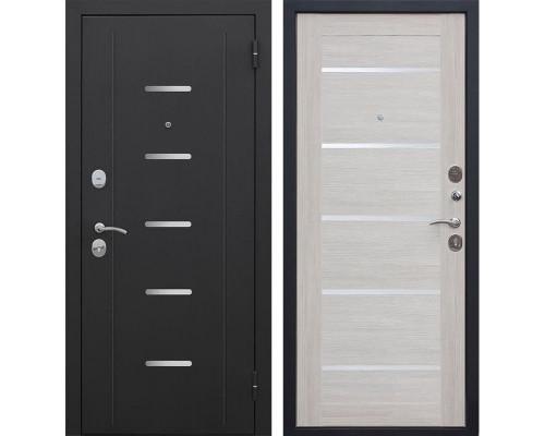 Входная металлическая дверь Гарда (Черный муар / Лиственница беж)