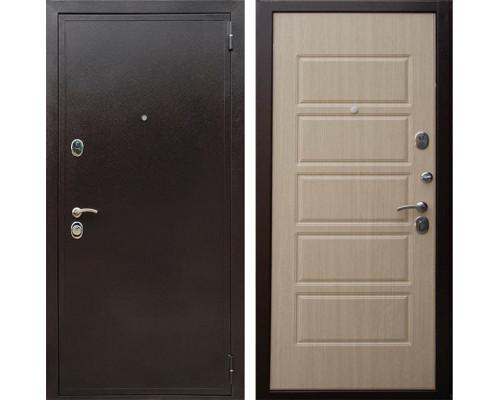 Входная металлическая дверь Персона Евро Домино (Медный антик / Венге светлый)