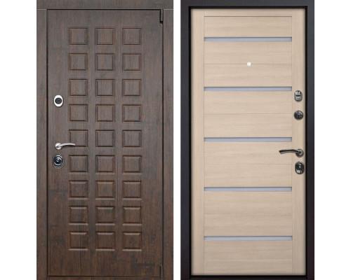 Входная металлическая дверь Верона X7 (Тиковое дерево / Капучино Мелинга)