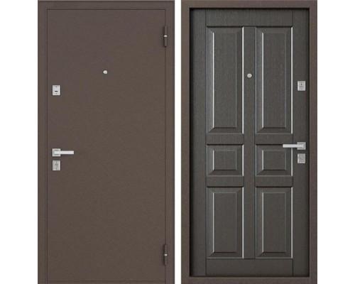Входная металлическая дверь Бульдорс 12-С (Медный антик / Орех темный)