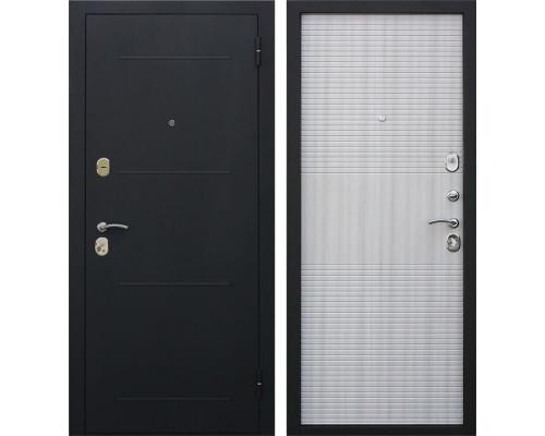 Входная металлическая дверь Гарда (Черный муар / Белый ясень)