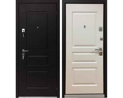 Входная металлическая дверь Бульдорс 45 (Черное Дерево / Белое Дерево)