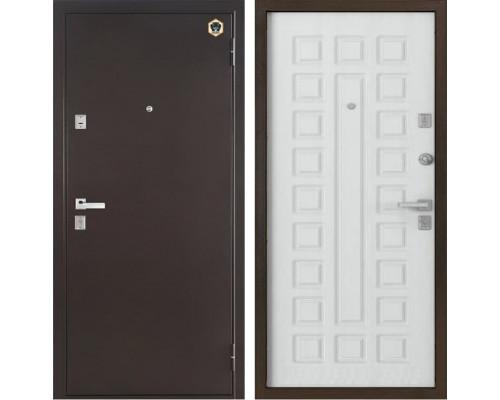 Входная металлическая дверь Бульдорс 13 А-3 (Медный антик / Шамбори Светлый)