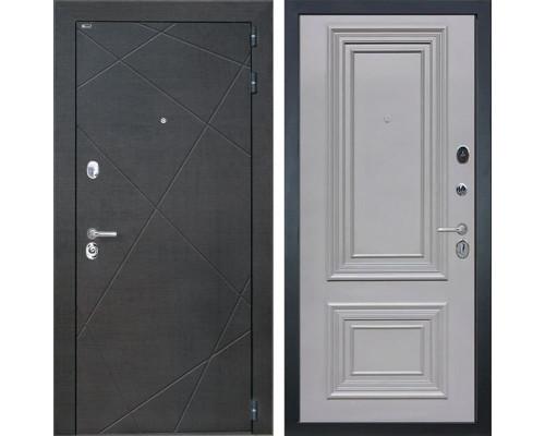 Входная дверь Интекрон Сенатор Лучи Сан Ремо 1 (Венге распил кофе / Пыльно-серый RAL 7037)