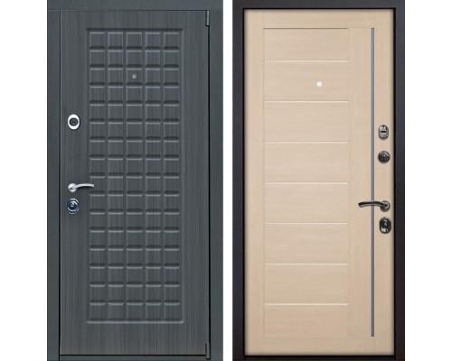Входная металлическая дверь Мадрид X17 (Дуб серый / Капучино Мелинга)