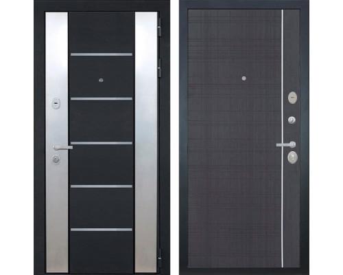 Входная металлическая дверь Интекрон Вельс L-6 (Черный металлик / Венге)