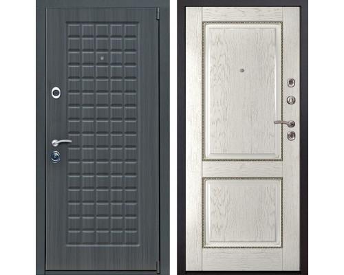 Входная металлическая дверь Мадрид 71 (Дуб серый / Капучино)
