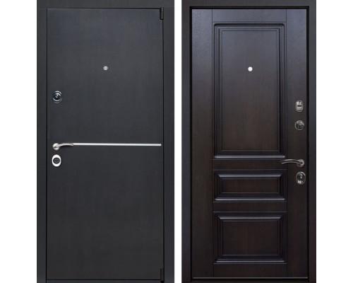 Входная металлическая дверь Римини Неаполь (Венге патина / Темная вишня)
