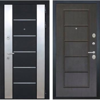 Входная металлическая дверь Интекрон Вельс ФЛ-39 (Черный металлик / Орех премиум)