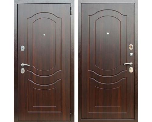 Входная металлическая дверь Персона Евро-3 Грация (Орех темный / Орех темный)