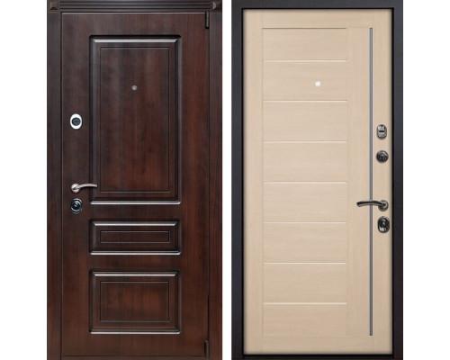 Входная металлическая дверь Неаполь X17 (Вишня тёмная / Капучино Мелинга)
