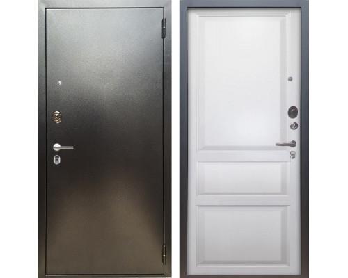 Входная металлическая дверь Аргус Люкс ПРО Каролина (Серебро антик / Белый жемчуг)