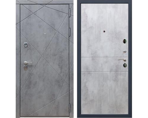 Входная металлическая дверь Армада 13 ФЛ-290 (Бетон тёмный / Бетон светлый)