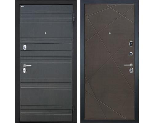 Входная металлическая дверь Интекрон Спарта Лучи-М (Венге / Венге распил кофе)