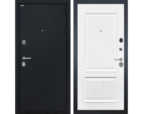 Входная стальная дверь Интекрон Греция Валентия-4 Шпон (Черный шелк / Ясень жемчуг)