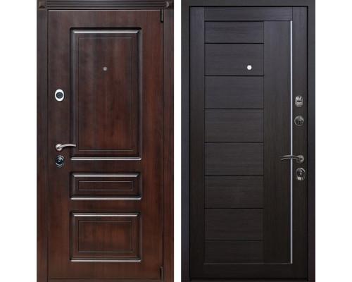 Входная металлическая дверь Неаполь X17 (Вишня тёмная / Венге Мелинга)