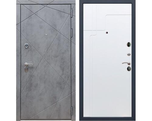 Входная металлическая дверь Армада 13 ФЛ-246 (Бетон тёмный / Белый софт)
