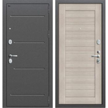 Дверь входная металлическая Groff T2-221 (Антик серебро / Cappuccino Veralinga)