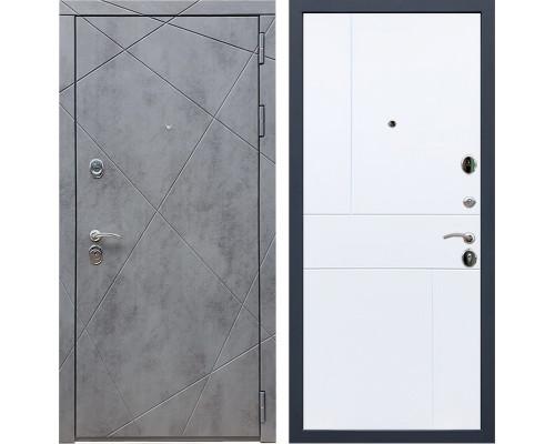 Входная металлическая дверь Армада 13 ФЛ-290 (Бетон тёмный / Белый софт)