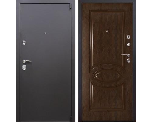 Входная металлическая дверь Квадро 70 (Искра коричневая / Каштан)