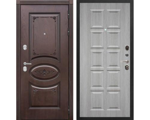 Входная металлическая дверь Сенатор Верона Т-13 (Дуб коньяк / Крем)