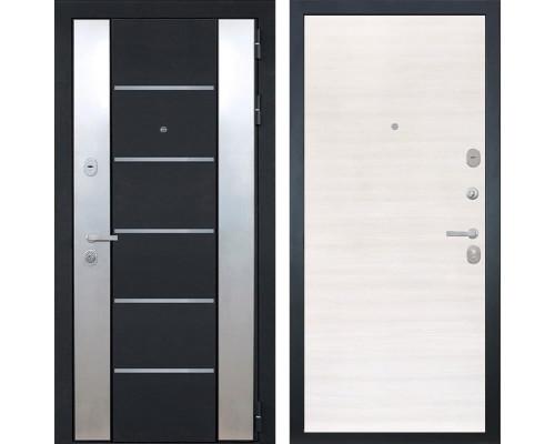 Входная металлическая дверь Интекрон Вельс (Черный металлик / Дуб сильвер)