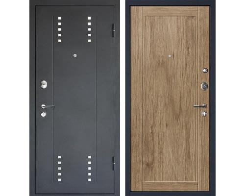 Входная металлическая дверь МеталЮр М26 (Черный бархат / Салинас cветлый)