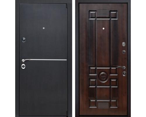 Входная металлическая дверь Римини Рим (Венге патина / Темная вишня)
