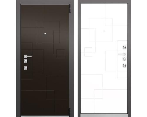 Входная металлическая дверь Mastino Forte (Шоколад молочный MS-113 / Милк матовый MS-113)