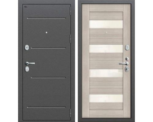 Дверь входная металлическая Groff T2-223 (Антик Серебро / Cappuccino Veralinga)