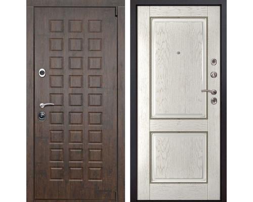 Входная металлическая дверь Верона 71 (Тиковое дерево / Капучино)