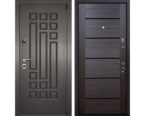 Входная металлическая дверь Милан X7 (Венге патина / Венге Мелинга)