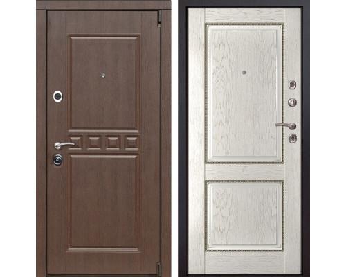 Входная металлическая дверь Сарбона 71 (Орех патина / Капучино)