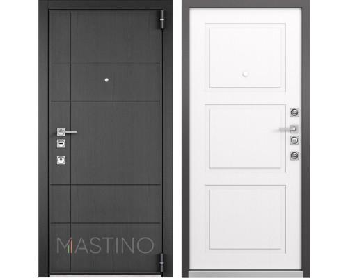 Входная металлическая дверь Mastino Forte (Синхропоры графит MS-114 / Cинхропоры милк MS-104)