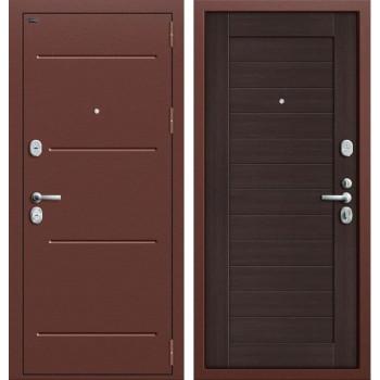 Дверь входная металлическая Groff T2-221 (Медный антик / Wenge Veralinga)