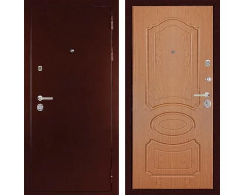 Входная металлическая дверь Дива МД-09 (Антик медный / Дуб светлый)