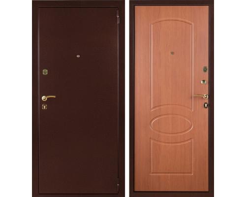Входная стальная дверь Триумф (Антик медный / Орех миланский)