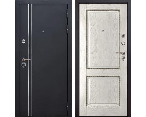 Входная металлическая дверь Квадро Лайн 71 (Искра черная / Капучино)