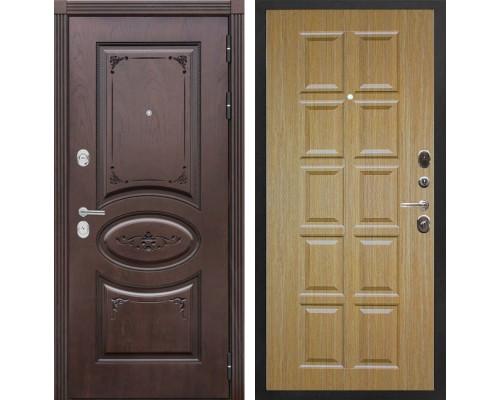 Входная металлическая дверь Сенатор Верона Т-13 (Дуб коньяк / Дуб)