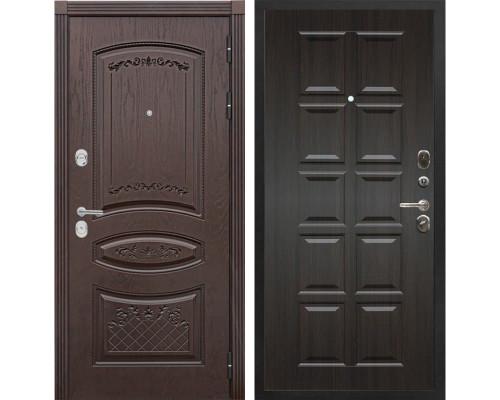 Входная металлическая дверь Сенатор Венеция Т-13 (Дуб коньяк / ЭкоВенге)