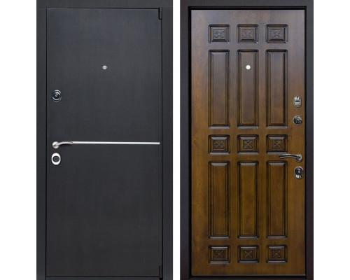 Входная металлическая дверь Римини Палермо (Венге патина / Золотой дуб)