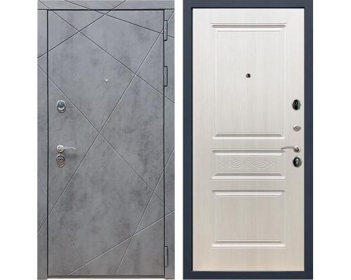 Входная металлическая дверь Армада 13 ФЛ-243 (Бетон тёмный / Лиственница беж)