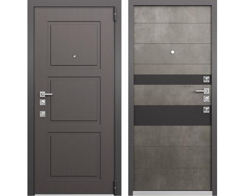 Входная металлическая дверь Mastino Forte (Синхропоры модерн MS-104 / Бетон темный MS-118)