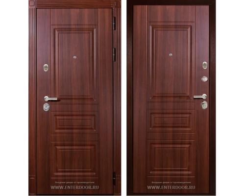 Входная металлическая дверь Дива МД-25 (Орех бренди / Орех бренди)