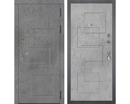 Входная металлическая дверь Дива МД-48 М-2 (Бетон Темный / Бетон Светлый)