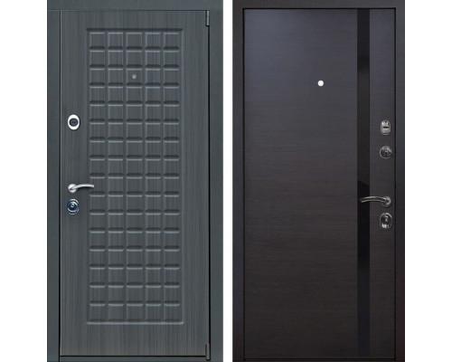 Входная металлическая дверь Верона Z6 (Дуб серый /Венге)