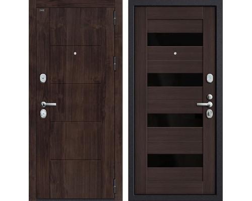 Входная металлическая дверь Groff Т3-223 (Темная Вишня / Wenge Veralinga)