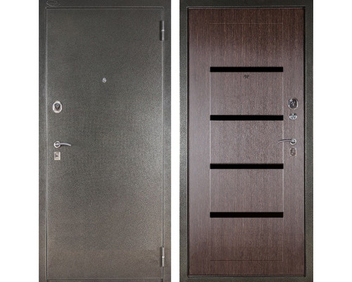 Входная металлическая сейф дверь Аргус ДА-10 Кензо (Серебро антик / Венге)